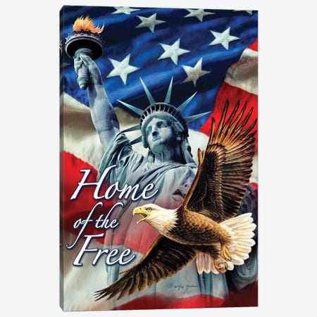 Home Of The Free Canvas Print #GRC81} by Greg & Company Canvas Artwork