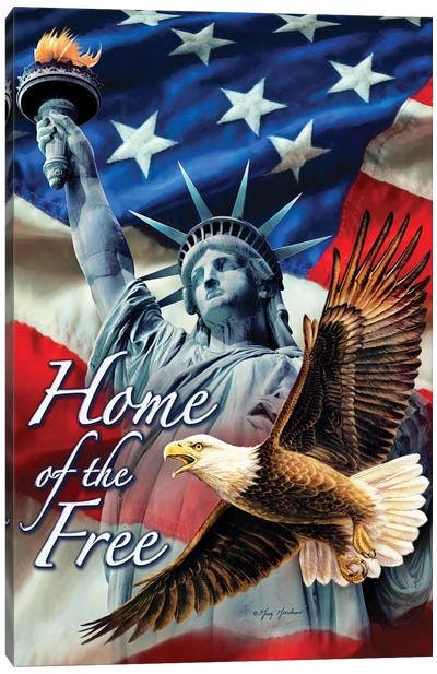Home Of The Free Canvas Art Print