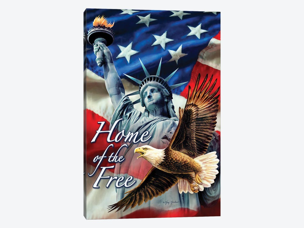 Home Of The Free by Greg & Company 1-piece Canvas Wall Art
