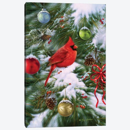 Cardinal Ornaments Canvas Print #GRC9} by Greg & Company Art Print