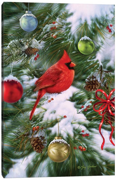 Cardinal Ornaments Canvas Art Print