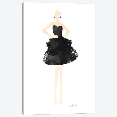 Fashion Illustration Model in Black Dress Canvas Print #GRE100} by Amanda Greenwood Canvas Wall Art