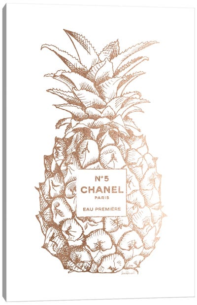Fashion Pineapple Champ Gold Canvas Art Print