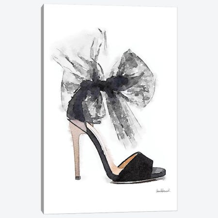 Fashion Shoe In Black Sheer Canvas Print #GRE104} by Amanda Greenwood Canvas Art Print