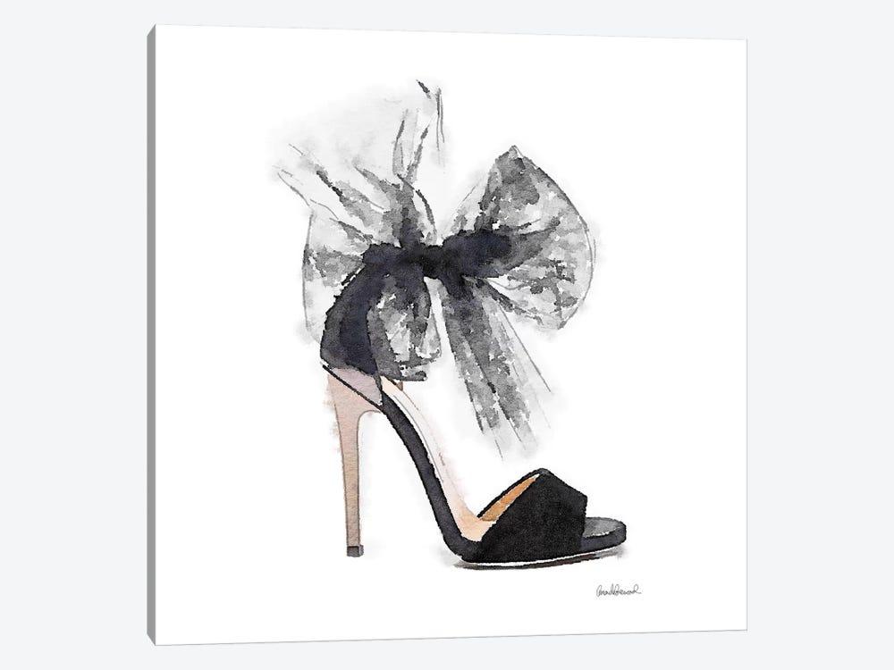 Fashion Shoe In Black Sheer, Square by Amanda Greenwood 1-piece Canvas Art Print