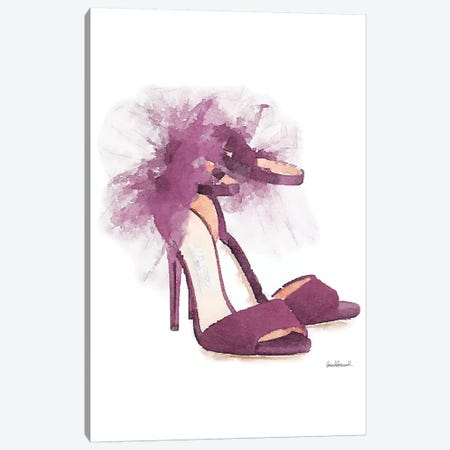 Fashion Shoe In Mauve Sheer Canvas Print #GRE106} by Amanda Greenwood Canvas Print