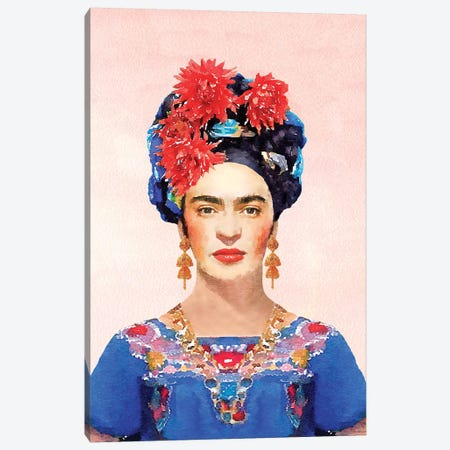 Frida Navy Canvas Print #GRE108} by Amanda Greenwood Canvas Wall Art