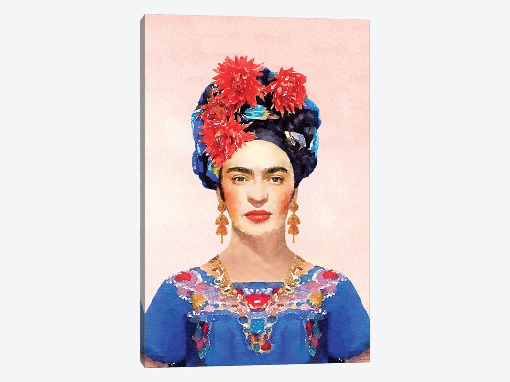 Frida Navy by Amanda Greenwood 1-piece Canvas Artwork