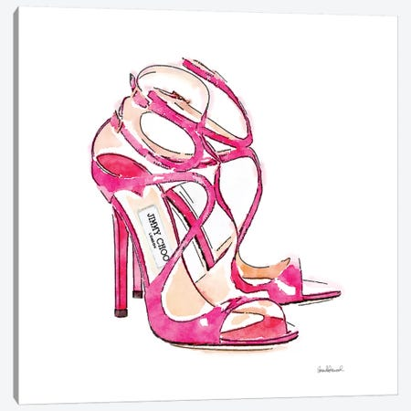 Pink Shoes, Square Canvas Print #GRE125} by Amanda Greenwood Art Print