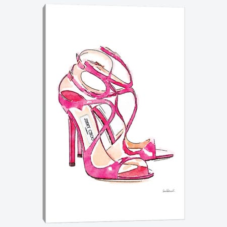 Pink Shoes Canvas Print #GRE126} by Amanda Greenwood Canvas Print