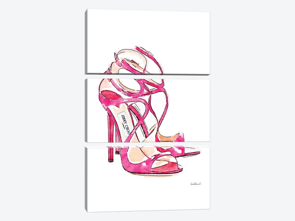 Pink Shoes by Amanda Greenwood 3-piece Canvas Artwork