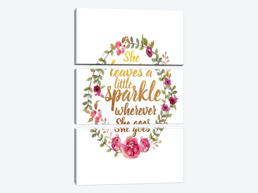 She Leaves Sparkle by Amanda Greenwood 3-piece Canvas Art Print