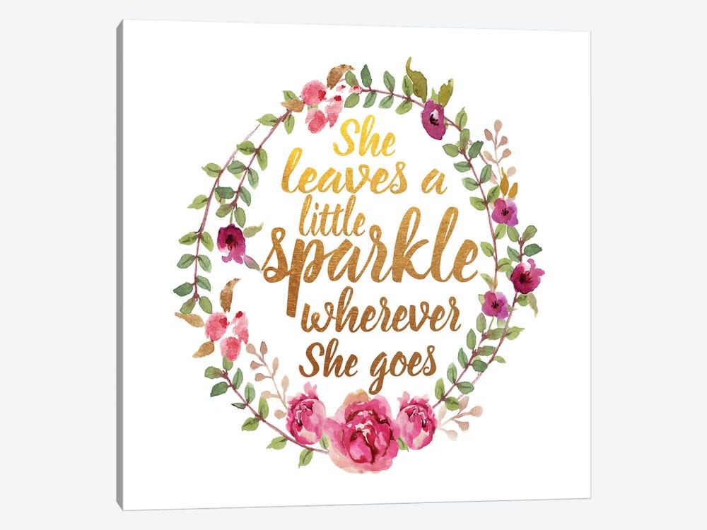 She Leaves Sparkle, Square by Amanda Greenwood 1-piece Canvas Wall Art