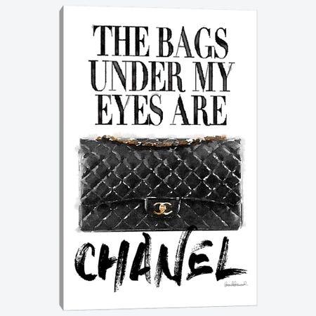 Bags Under My Eyes Black Bag Canvas Print #GRE134} by Amanda Greenwood Canvas Artwork