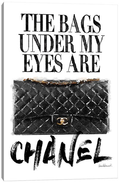 Bags Under My Eyes Black Bag Canvas Art Print
