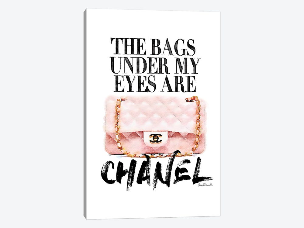 Bags Under My Eyes Pink Bag by Amanda Greenwood 1-piece Canvas Art