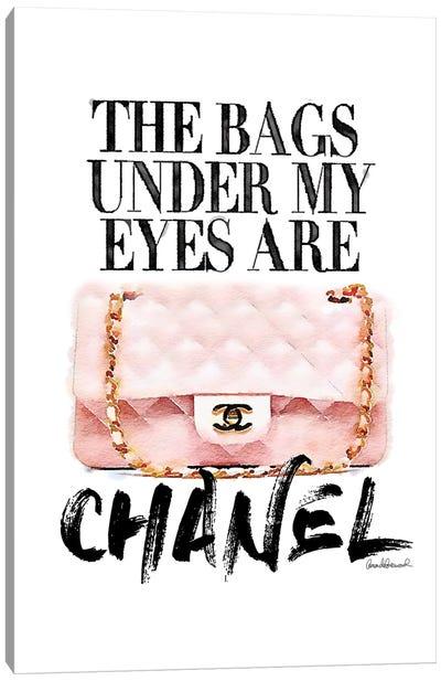 Bags Under My Eyes Pink Bag Canvas Art Print