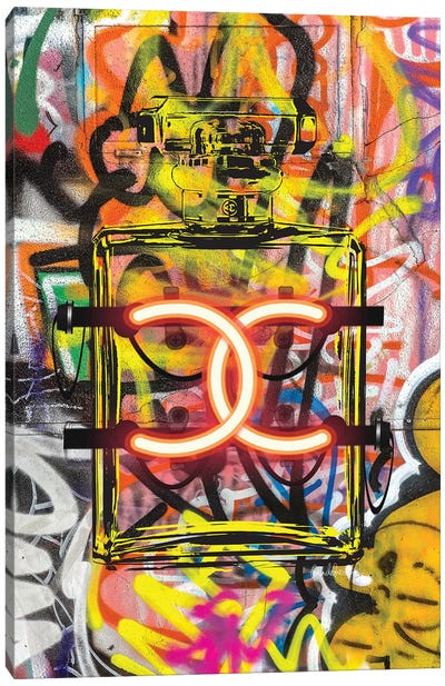 CC Neon Graffiti Canvas Art Print