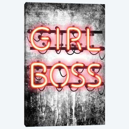 Girl Boss Neon Sign Canvas Print #GRE160} by Amanda Greenwood Canvas Wall Art