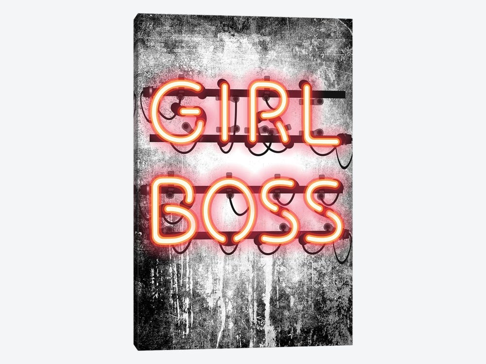 Girl Boss Neon Sign by Amanda Greenwood 1-piece Canvas Artwork