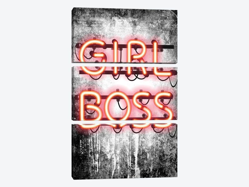 Girl Boss Neon Sign by Amanda Greenwood 3-piece Canvas Artwork