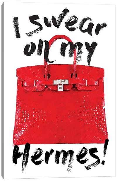I Swear Red Bag Canvas Art Print