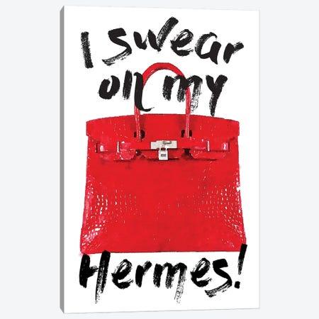 I Swear Red Bag Canvas Print #GRE169} by Amanda Greenwood Canvas Artwork