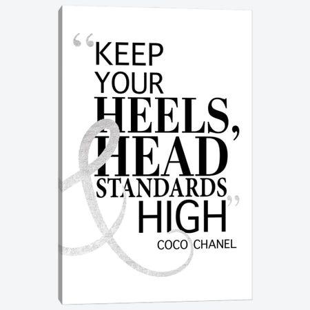 Keep Your Heels, Head & Standards High II Canvas Print #GRE16} by Amanda Greenwood Canvas Artwork