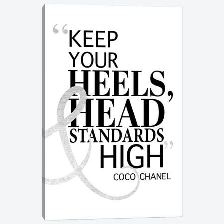 Keep Your Heels, Head & Standards High II Canvas Print #GRE16} by Amanda Greenwood Canvas Artwork