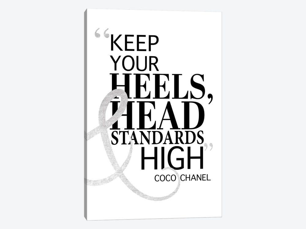 Keep Your Heels, Head & Standards High II by Amanda Greenwood 1-piece Canvas Artwork