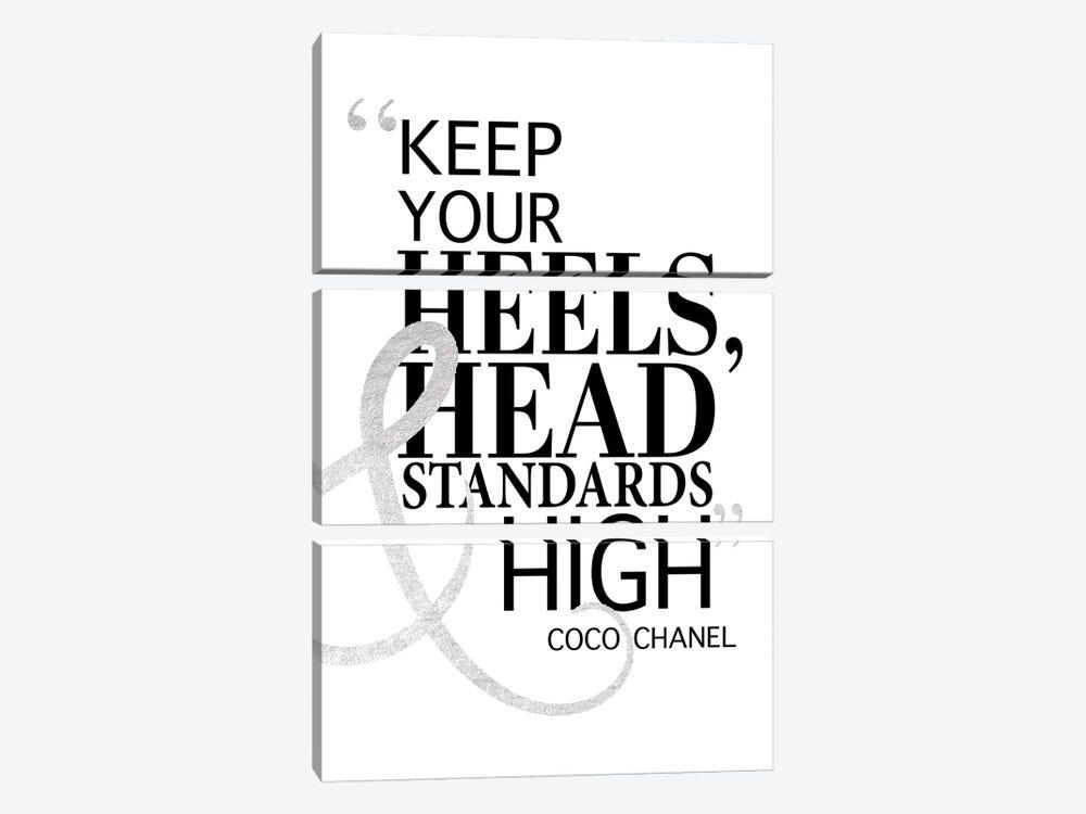 Keep Your Heels, Head & Standards High II by Amanda Greenwood 3-piece Canvas Wall Art