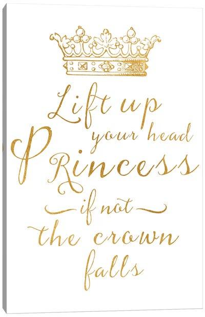 Lift Your Head Princess Crown Gold Canvas Art Print
