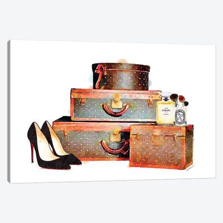 Luggage Set & Shoes Canvas Print #GRE173} by Amanda Greenwood Canvas Print