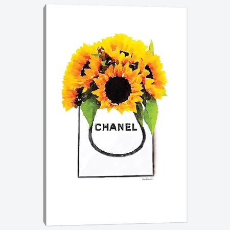 Shopper With Sunflowers Canvas Print #GRE190} by Amanda Greenwood Art Print