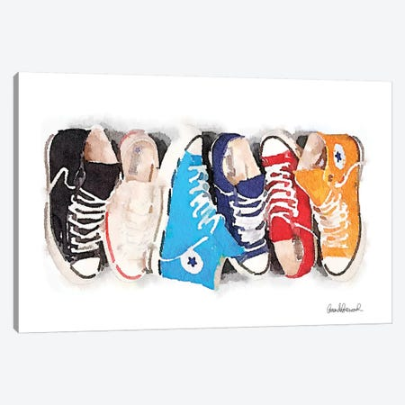 Sneaker Line Canvas Print #GRE192} by Amanda Greenwood Art Print