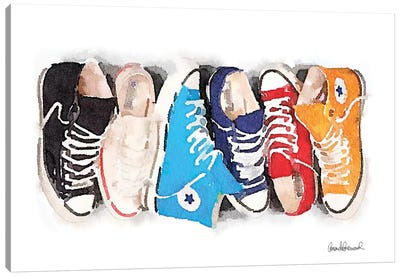 Sneaker Line Canvas Art Print