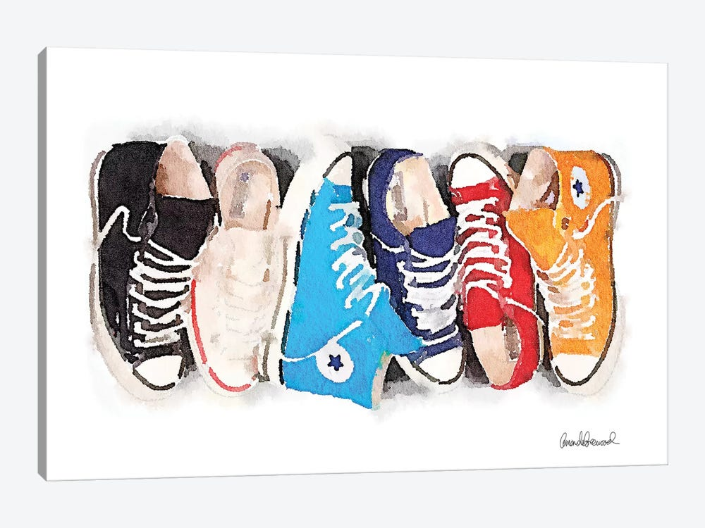 Sneaker Line by Amanda Greenwood 1-piece Canvas Art Print