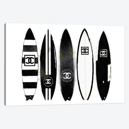 Surf Black & White Canvas Print #GRE193} by Amanda Greenwood Art Print