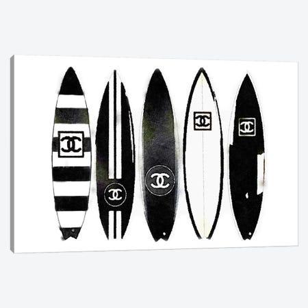 Surf Black & White Canvas Print #GRE193} by Amanda Greenwood Art Print