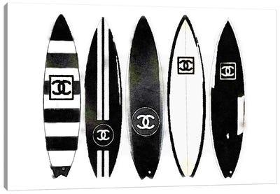 Surf Black & White Canvas Art Print