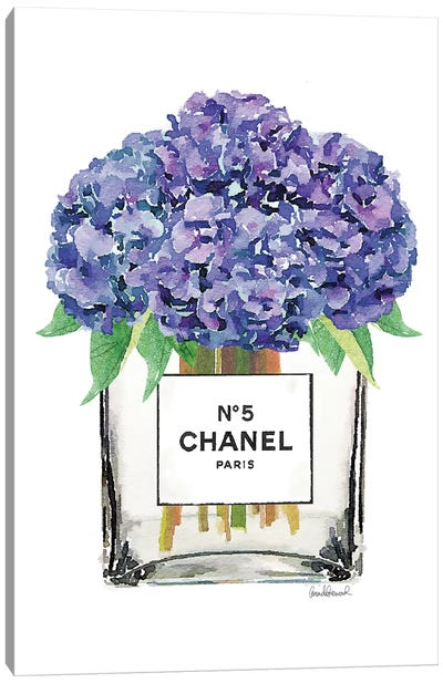 Vase Of Hydrangeas Canvas Art Print