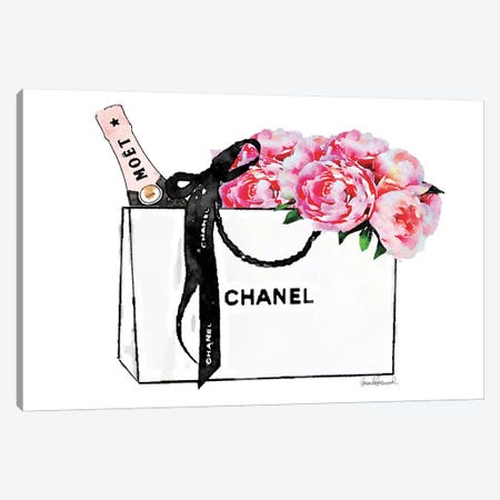 White Bag With Champagne Canvas Print #GRE196} by Amanda Greenwood Canvas Art