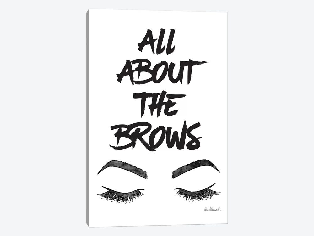 All About The Brows by Amanda Greenwood 1-piece Canvas Wall Art