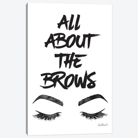 All About The Brows Canvas Print #GRE197} by Amanda Greenwood Canvas Artwork