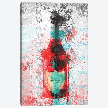 Champagne In Grunge, Grey, & Gold Canvas Print #GRE202} by Amanda Greenwood Canvas Art Print
