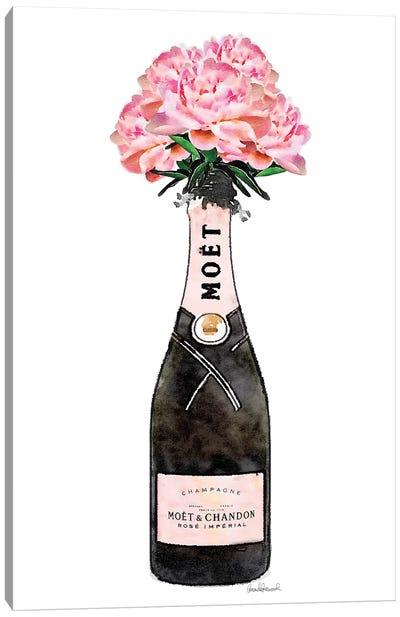 Champagne Pink Peony Canvas Art Print