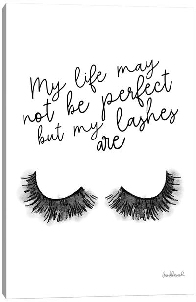 Perfect Lashes Canvas Art Print