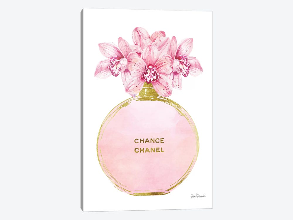 Perfume Round Solid In Gold, Pink, & Orchid by Amanda Greenwood 1-piece Canvas Print