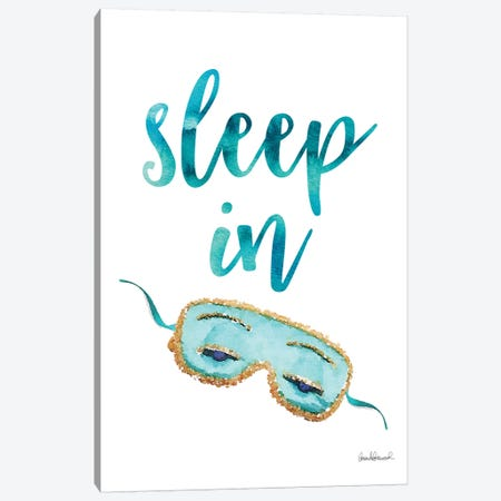 Sleep In Mask, Teal Canvas Print #GRE224} by Amanda Greenwood Canvas Artwork