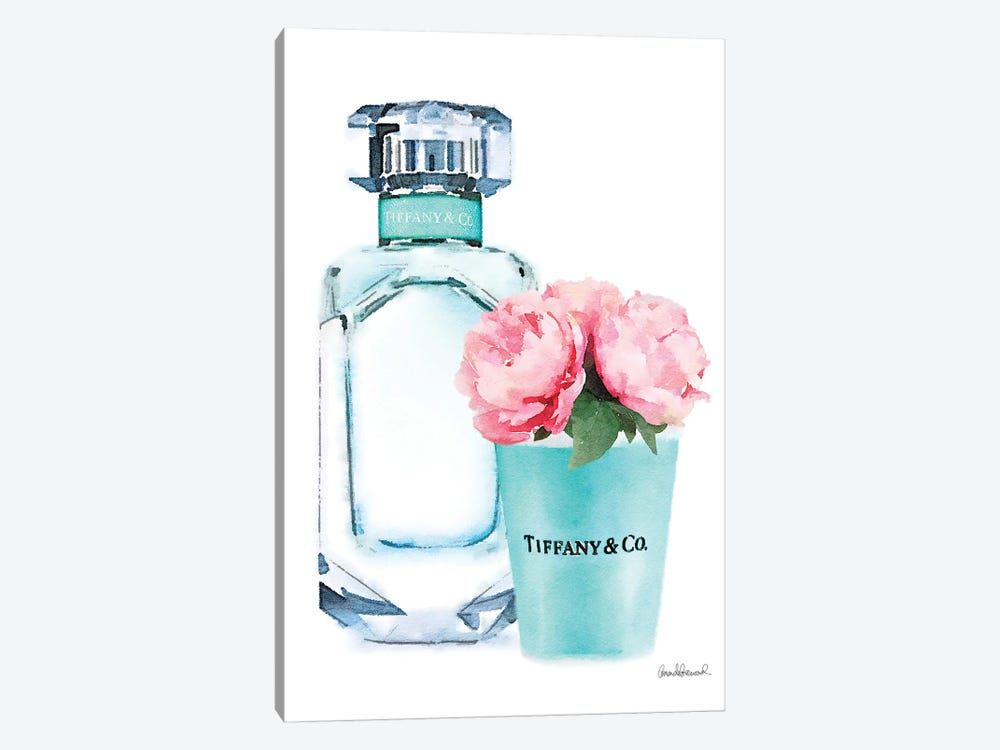 Teal Perfume Set II 1-piece Canvas Artwork